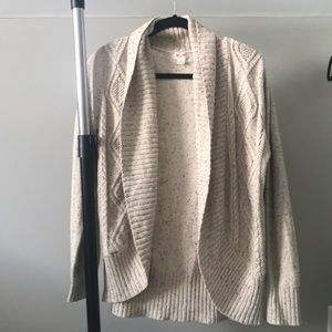 Oatmeal knitted comfy cardigan as medium